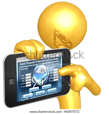 Gold Guy With Touch Screen Automotive