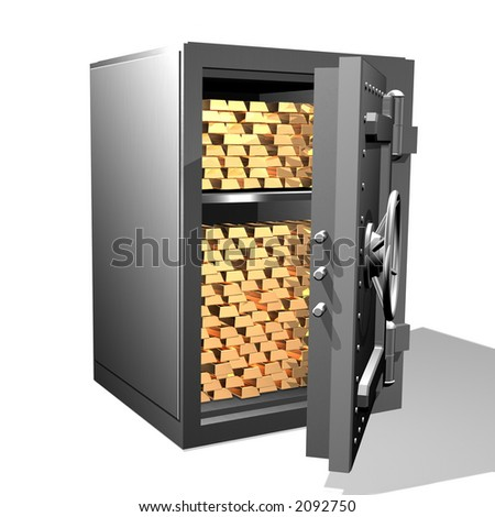 Gold ingots in the safe