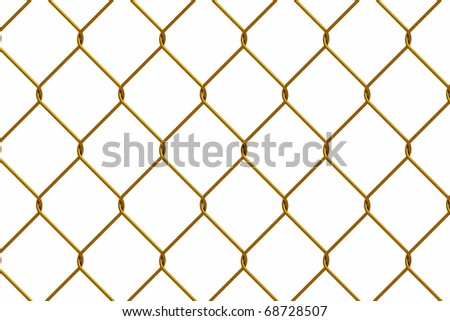 gold iron wire fence