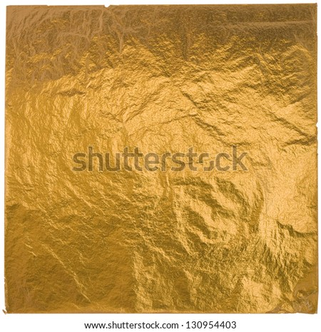gold leaf isolated on a white background
