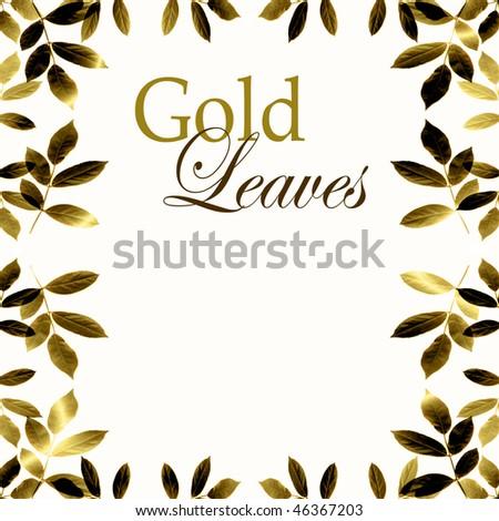 Gold Leaves Border
