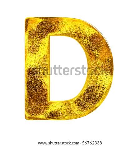 Gold letter - D