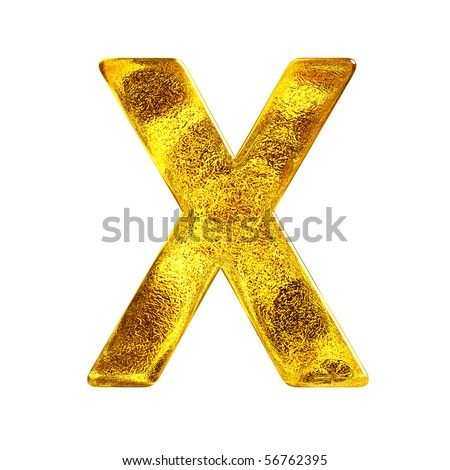 Gold letter - X