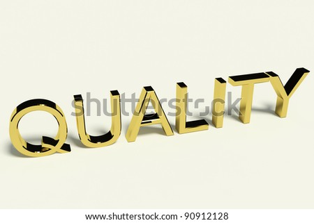 Gold Letters Spelling Quality With A Shiny Finish Representing Excellence And Perfection