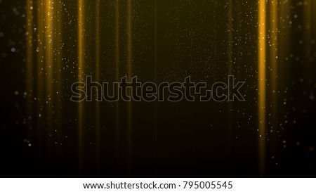 Gold light awards background.