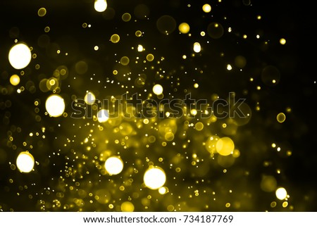 Gold light on bokeh abstract background. #734187769