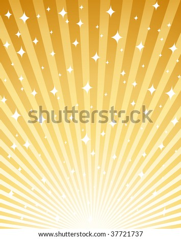 Gold magical and festive background.
