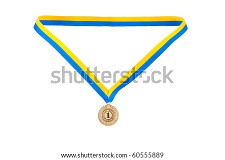 Gold medal champion at the tape of the country Ukraine