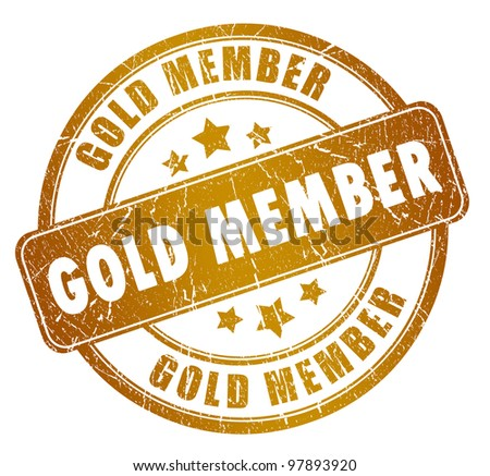 Gold member stamp
