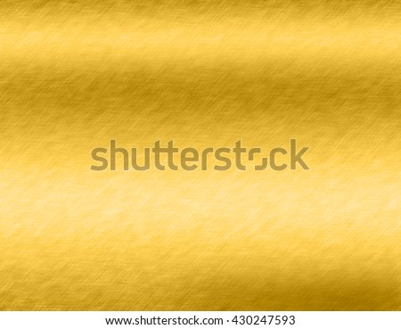 Gold metal brushed background or texture of brushed steel plate with reflections Iron plate and shiny #430247593