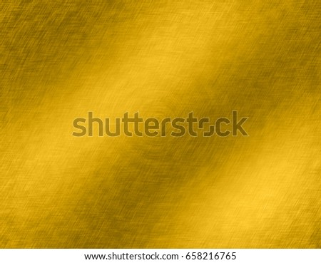 Gold metal brushed background or texture of brushed steel plate with reflections Iron plate and shiny #658216765