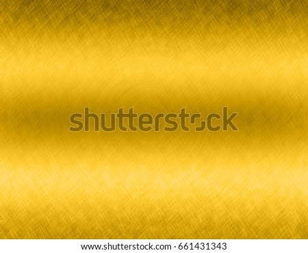 Gold metal brushed background or texture of brushed steel plate with reflections Iron plate and shiny #661431343