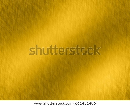 Gold metal brushed background or texture of brushed steel plate with reflections Iron plate and shiny #661431406