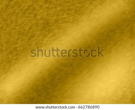 Gold metal brushed background or texture of brushed steel plate with reflections Iron plate and shiny #662786890