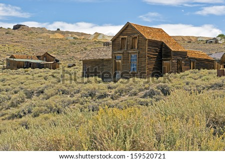 Gold mining ghost town of Bodie, California, a State Historical Park