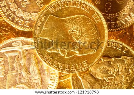 Gold Napoleon coins treasure