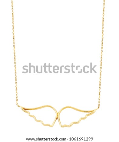 gold necklace isolated #1061691299