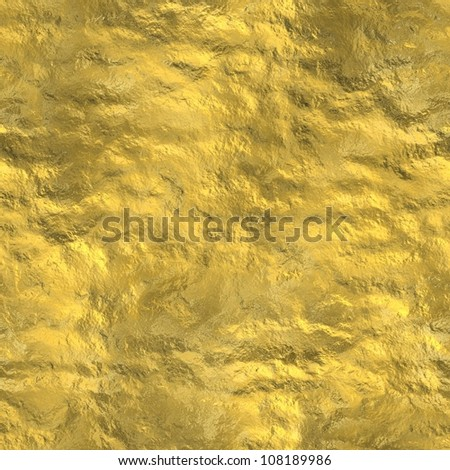 Gold nugget surface seamless background