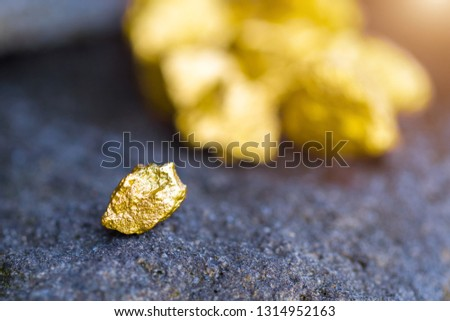 Gold on the stone floor Discovering Success and Investing Concepts with Business Partners. #1314952163