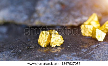 Gold on the stone floor Discovering Success and Investing Concepts with Business Partners. #1347537053