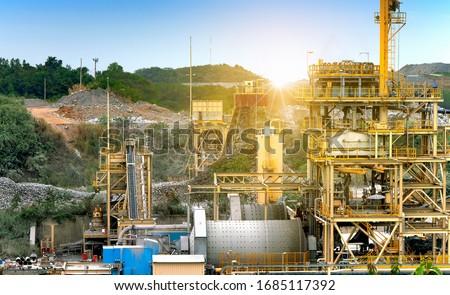 Gold ore processing plant in mining area Foto d'archivio ©