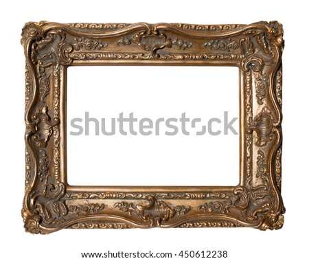 Gold Ornate Frame Landscape #450612238