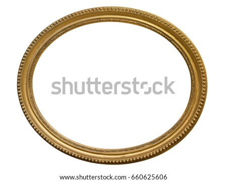 gold oval picture frame....