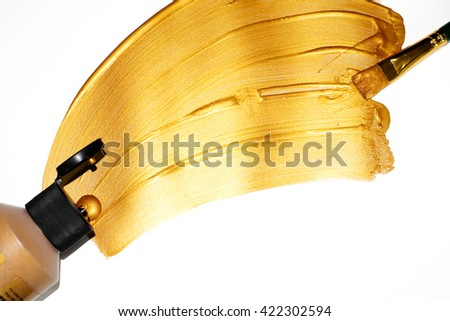 Gold paint brush stroke Images and Stock Photos - Page: 4