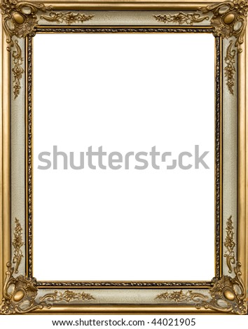 Gold painting frame with decoration