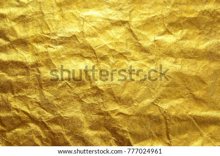 Gold paper texture , craft paper background.