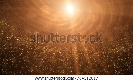 Gold Particles able to loop seamless background #784112017