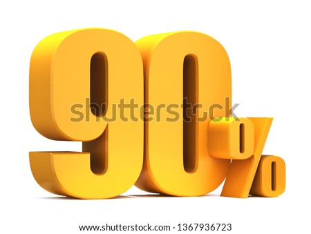 Gold 90 Percent off 3d Sign on White Background, Special Offer 90% Discount Tag, Sale Up to 90 Percent Off,big offer, Sale, Special Offer Label, Sticker, Tag, Banner, Advertising, offer Icon