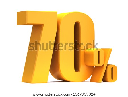 Gold 70 Percent off 3d Sign on White Background, Special Offer 70% Discount Tag, Sale Up to 70 Percent Off,big offer, Sale, Special Offer Label, Sticker, Tag, Banner, Advertising, offer Icon