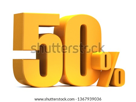 Gold 50 Percent off 3d Sign on White Background, Special Offer 50% Discount Tag, Sale Up to 50 Percent Off,big offer, Sale, Special Offer Label, Sticker, Tag, Banner, Advertising, offer Icon