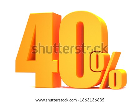Gold 40 Percent off 3d Sign on White Background, Special Offer 40% Discount Tag, Sale Up to 40 Percent Off,big offer, Sale, Special Offer Label, Sticker, Tag, Banner, Advertising, offer Icon