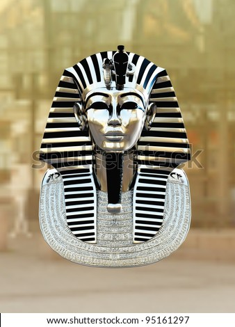 Gold pharaoh Tutankhamen mask