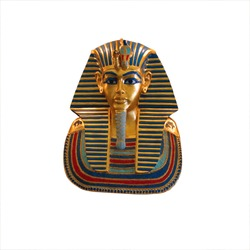 gold pharaoh tutankhamen mask isolated with clipping path