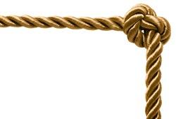 Gold rope frame
