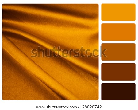 gold satin color palette with complimentary swatches.