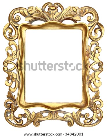 Gold Scroll Picture Frame
