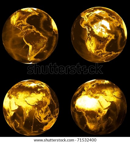 gold set of earths