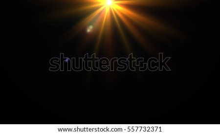 Gold shine with lens flare background - Shutterstock ID 557732371