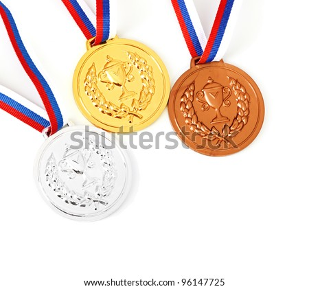 gold, silver, bronze Medal & Ribbon for 1-2-3 place