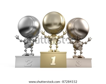 Gold, silver & bronze winners-robots at the peak of fame
