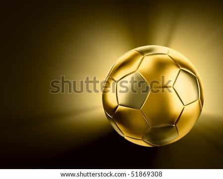 Gold soccer - stock photo