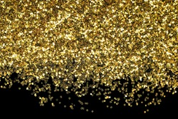 gold spangles on a black surface