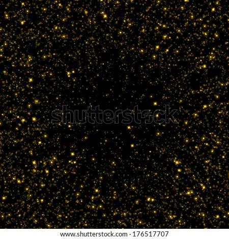 Gold sparkle glitter background. Glitter stars background