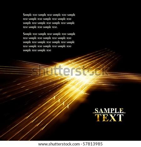 Gold sparkle line on black