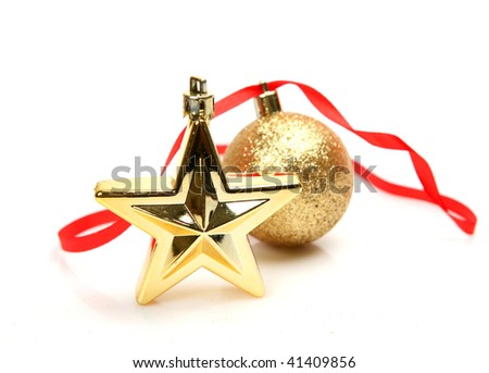 Gold sphere and star