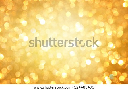 Gold Lights Backgrounds Gold spring or summer